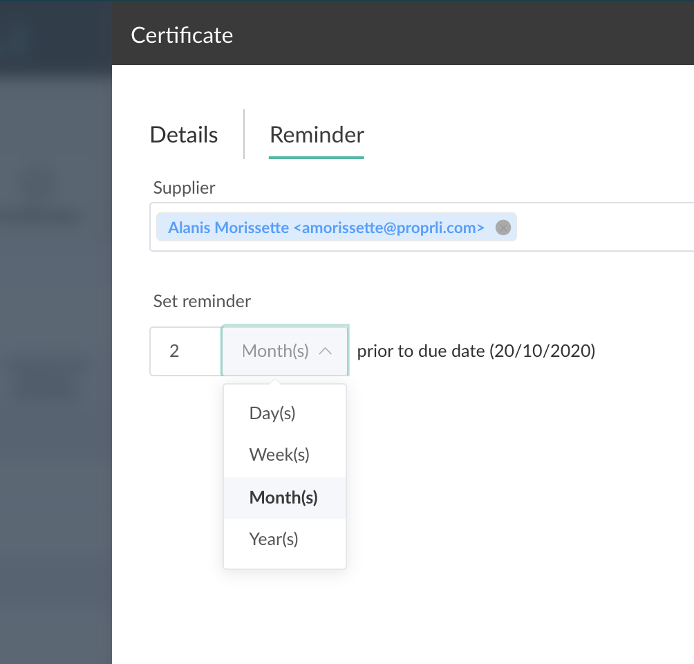 Easily manage all building certificates and reminders.