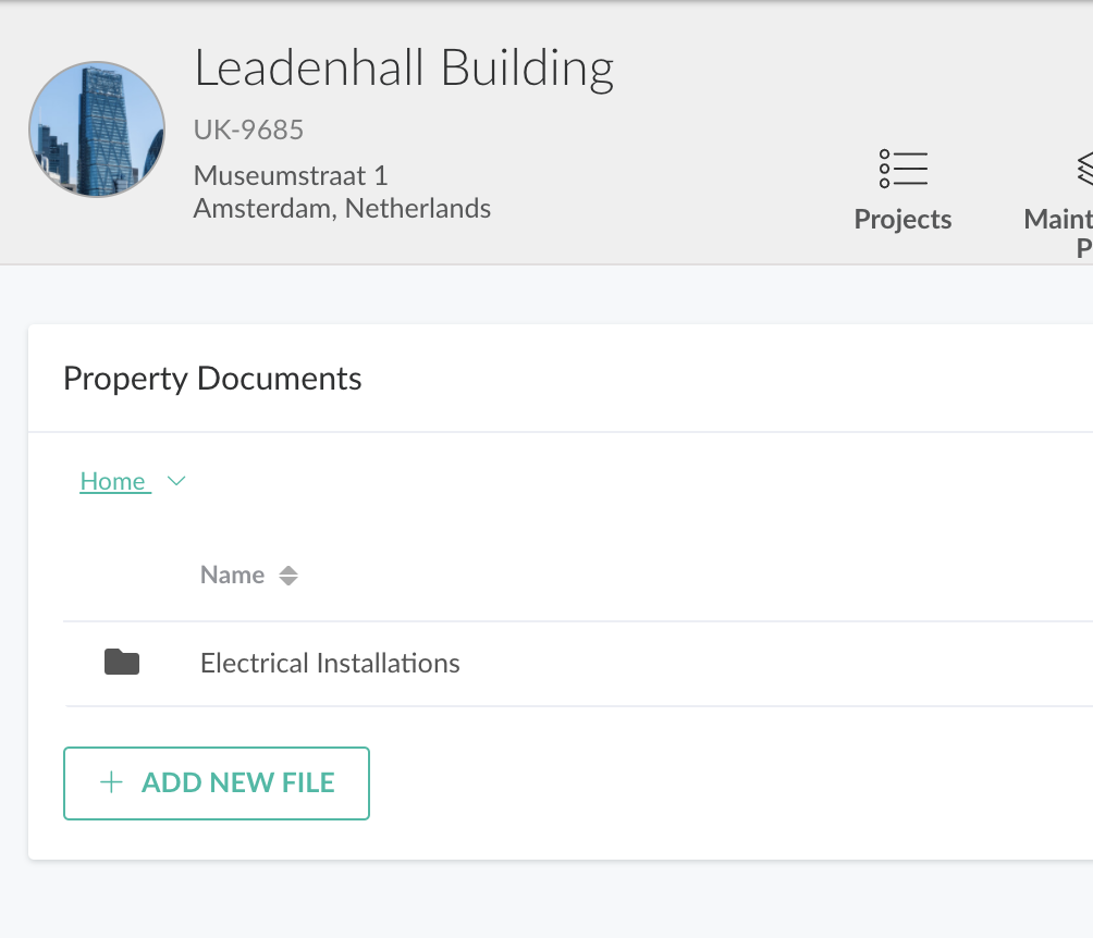Store all building documents in the cloud